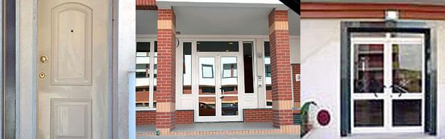 Portas e portões de prédios