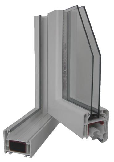 Caixilhos em PVC - perfil