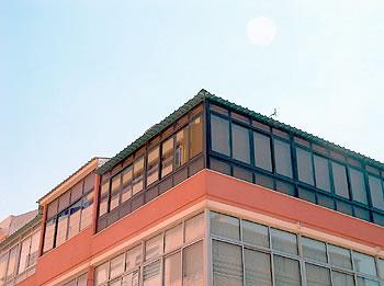 Cobertura prédio térmica