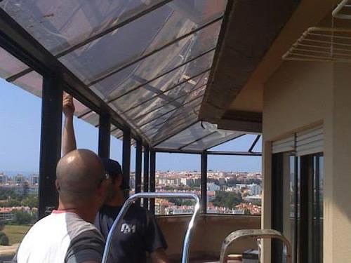 Marquise com telhado isotérmico